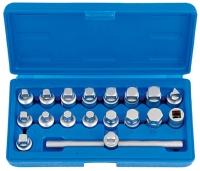 """18pcs 3/8""""Dr.Master Drain Plug Key Set Cr-V"""