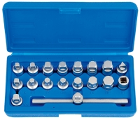 "18pcs 3/8""Dr.Master Drain Plug Key Set Cr-V"