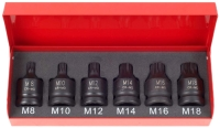 "Cens.com 6pcs 1/2""Dr. 43mm Spline Impact Socket Set Cr-Mo OKEEN INDUSTRIAL CO., LTD."