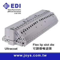 Flex lip slot die