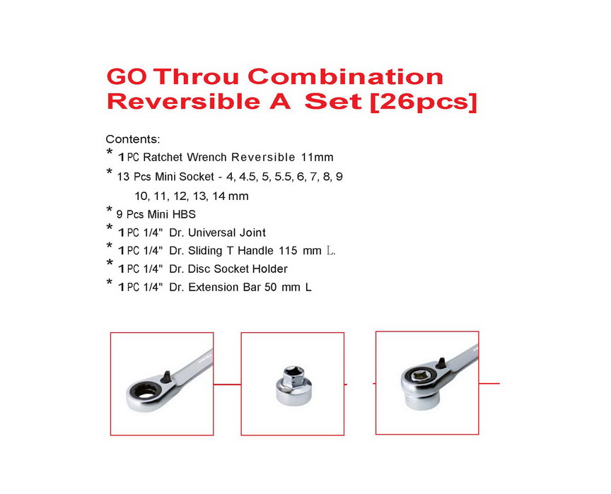 GO Throu Combination Reversible(26pcs)