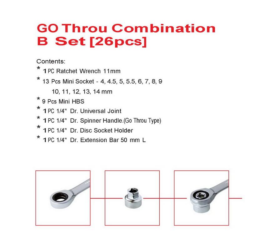GO Throu Combination B set (26 pcs)