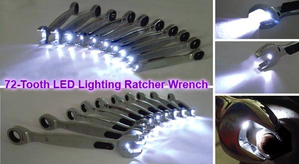 7pcs LED棘轮扳手