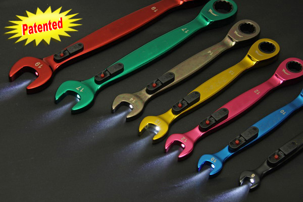7pcs Ratchet Wrenches W/LEDs