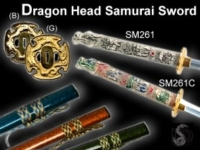 Dragon Head Samurai Sword