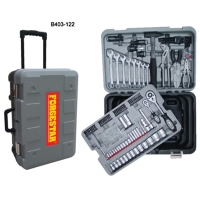 122PC Mechanic`s Tool Set With Rolling Tool Box
