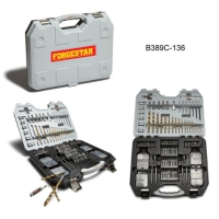 136-Piece Titanium Drill Accessory Set
