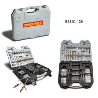 136-Piece Titanium Drill Accessory Set
