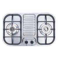 Two-burner Gas Hob/Stove (W/Overheating Preventer)