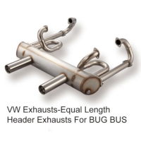 VW Exhausts-Equal Length Header Exhausts For BUG BUS