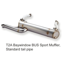 T2A Baywindow BUS Sport Muffler, Standard tail pipe