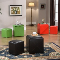 Fashion Storage with Small Ottoman