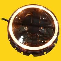 GOLF1 7 head lamp w/halo (smoke)