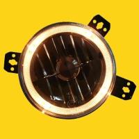 "GOLF1&2, 5"" high/low-beam headlamp w/halo (clear)"