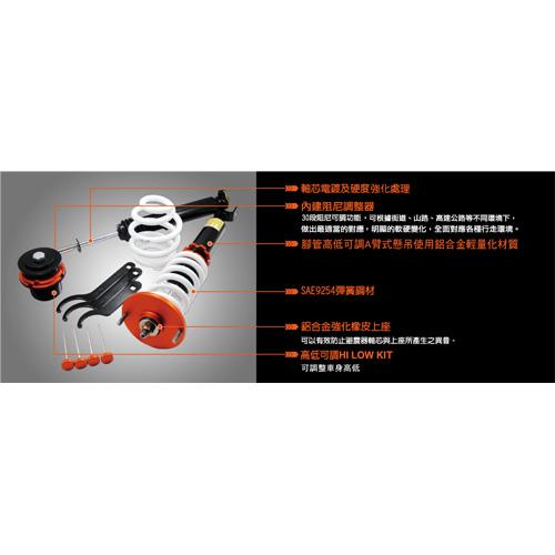 避震器 - 拖曳臂式