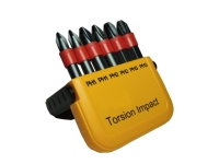 6pcs Torsion Impact resistance Power bits with pocket box