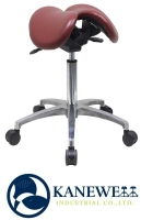 专利抗菌塑胶皮双马鞍椅(铝脚)