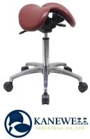 專利抗菌塑膠皮雙馬鞍椅(鋁腳)