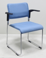 Plastic Stacking Chair With Armrest