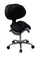 Twin Saddle Chair With Adjustable Backrest