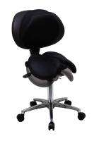 雙馬鞍椅/有背(可調整角度)/鋁腳