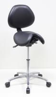 單馬鞍椅/有背(背不可調整)/鋁腳
