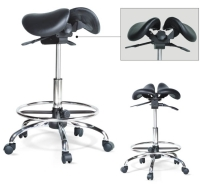 Twin Saddle Chair With Footring