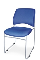 PLASTIC STACKABLE CHAIR WITH CUSHION