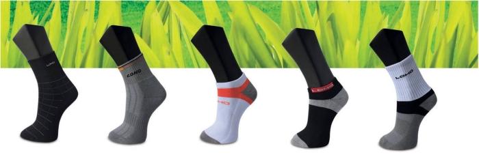 Socks with bamboo charcoal yarn
