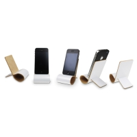 Wooden foldable cell phone holder