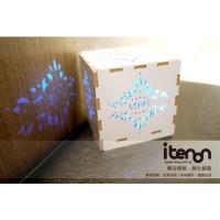 精雕木作米亞燈盒