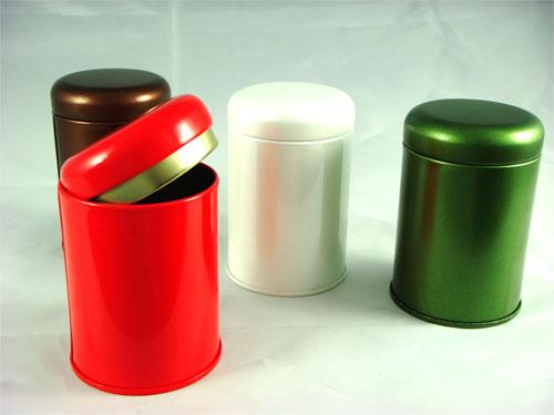 一兩裝茶葉罐 (中國紅色)