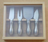 4-pc Stainless Steel Cheese Knife Set