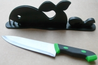 Houly Whale!Knife & Rack Set