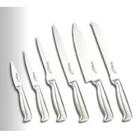 6-pc All-stainless Kitchen Knife Set