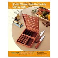 Cens.com 6-pc steak knife with rose wooden box 豪利刀剪餐具有限公司