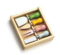 4-pc Cheese Knife Set w/Teflon coating