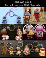 Resin Figurines With Keychains