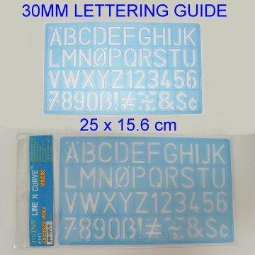 30mm Lettering Guide