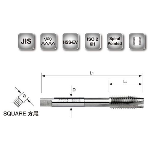 Spiral Pointed Machine Taps-M (JIS)