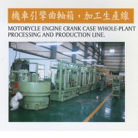 Production line for motorcycle crankcases