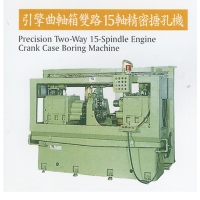 Two-way, 15-spindle precision boring machine for motorcycle crankcases