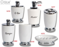 Ceramic ware - Tumbler, Toothbrush Holder, Soap Dispenser