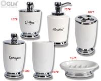 陶瓷沐浴乳罐、棉花罐、皂盤、牙刷罐