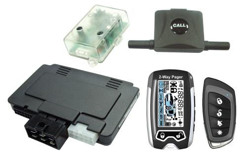 LCD Display 2-Way Alarm & Starter with Super Slim Module
