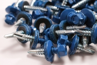 Hex Washer Roofing Screw Blue
