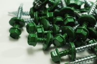 Hex Washer Roofing Screw Green