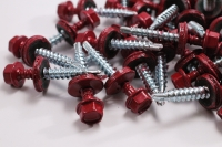 Hex Washer Roofing Screw Red