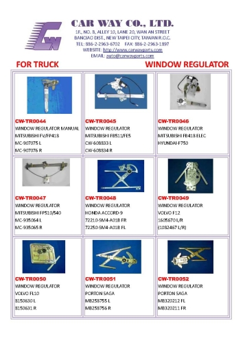 TRUCK POWER WINDOW REGULATOR/MANUAL WINDOWREULATOR