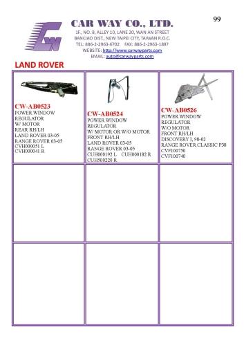 LAND ROVER WINDOW REGULATOR